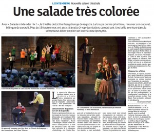 Les Dernières Nouvelles d'Alsace du 13 juillet 2015