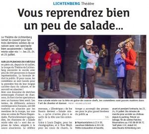 Dernières Nouvelles d'Alsace du 22/07/2015