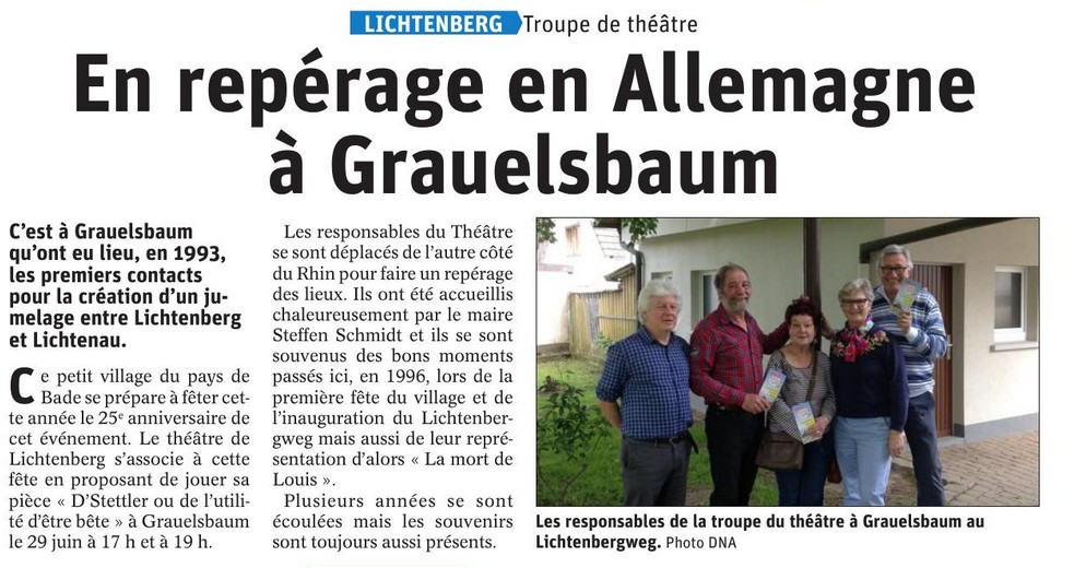 En repérage en Allemagne à Grauelsbaum